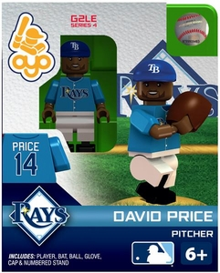 OYO Baseball MLB Generation 2 Building Brick Minifigure David Price [Tampa Bay Rays]