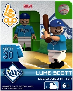OYO Baseball MLB Generation 2 Building Brick Minifigure Luke Scott [Tampa Bay Rays]