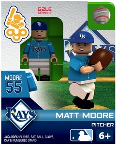 OYO Baseball MLB Generation 2 Building Brick Minifigure Matt Moore [Tampa Bay Rays]