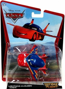 Disney / Pixar Cars Take Flight 1:55 Die Cast Car Lightning McQueen Hawk