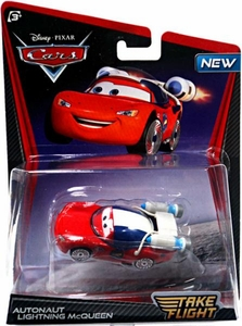 Disney / Pixar Cars Take Flight 1:55 Die Cast Car Autonaut Lightning McQueen