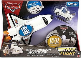 Disney / Pixar Cars Take Flight Playset Space Mission Adventure [Roger the Space Shuttle & Autonaut Mater]