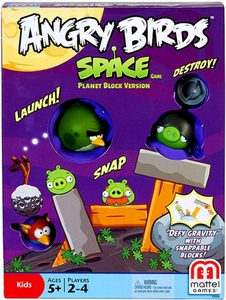 Mattel Angry Birds Space Board Game Planet Block Version Game