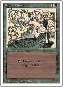 Magic the Gathering Revised Edition Single Card Common Regeneration