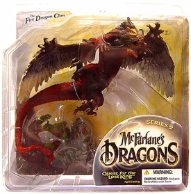 McFarlane Toys Dragons Series 2 Action Figure Fire Clan Dragon 2 [Paint Variant] Damaged Package