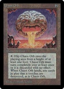 Magic the Gathering Beta Limited Single Card Rare Chaos Orb Slightly Played A Few Binder Marks on the Center of the Card