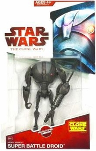 Star Wars 2009 Clone Wars Animated Action Figure CW No. 11 Super Battle Droid Sergeant