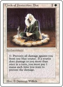 Magic the Gathering Revised Edition Single Card Common Circle of Protection: Blue