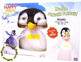 Happy Feet Warner Brothers Movie Toy Plush Roleplay Mumble Penguin Playsuit