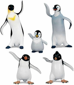 Happy Feet Two Movie Exclusive Series 1 Collectible Figurine Gift Set  [Erik, Mumble, Gloria, Lombardo & Raul]