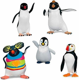Happy Feet Two Movie Exclusive Series 2 Collectible Figurine Gift Set  [Erik, Sven, Lovelace, Ramon & Carmen]