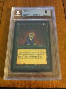 Magic the Gathering Beta Limited Single Card Rare Mind Twist BGS Graded 9