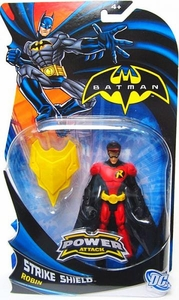 Batman Power Attack Action Figure Strike Shield Robin