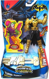Batman Power Attack Deluxe Action Figure Turbo Punch Batman