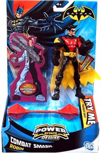 Batman Power Attack Deluxe Action Figure Combat Smash Robin