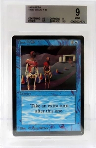 Magic the Gathering Beta Limited Single Card Rare Time Walk BGS Graded 9