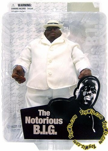 Mezco Toyz Rap Stars Action Figure Notorious B.I.G. [Biggie Smalls] in White Suit