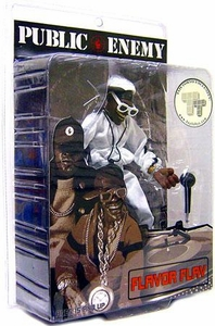 Mezco Toyz Rap Stars Action Figure Public Enemy's Flava Flav [Black & White Edition]