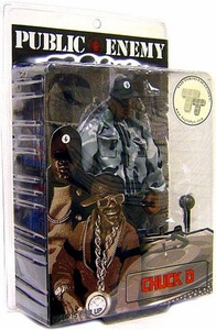 Mezco Toyz Rap Stars Action Figure Public Enemy's Chuck D. [Black & White Edition]