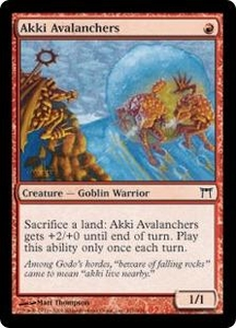 Magic the Gathering Champions of Kamigawa Single Card Common #151 Akki Avalanchers