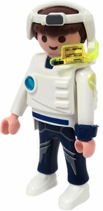 Playmobil LOOSE Mini Figure Male E-Ranger Turbojet Flight Officer with White Armor & Headset [Light Flesh]