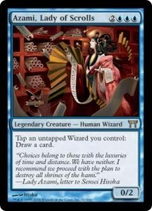 Magic the Gathering Champions of Kamigawa Single Card Rare #52 Azami, Lady of Scrolls