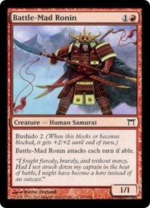 Magic the Gathering Champions of Kamigawa Single Card Common #156 Battle-Mad Ronin