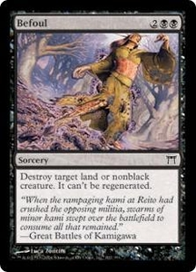 Magic the Gathering Champions of Kamigawa Single Card Common #102 Befoul