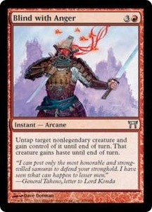 Magic the Gathering Champions of Kamigawa Single Card Uncommon #158 Blind with Anger