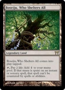 Magic the Gathering Champions of Kamigawa Single Card Rare #273 Boseiju, Who Shelters All