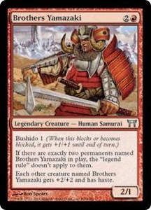 Magic the Gathering Champions of Kamigawa Single Card Uncommon #160 Brothers Yamazaki [Facing Right] Foil!