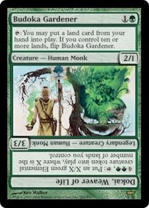 Magic the Gathering Champions of Kamigawa Single Card Rare #202 Budoka Gardener // Dokai, Weaver of Life