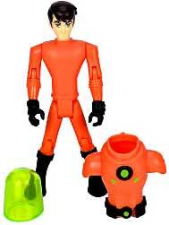 Ben 10 LOOSE 4 Inch Action Figure Ben in Orange Plumber Suit