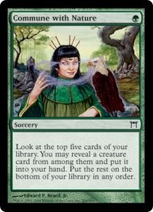 Magic the Gathering Champions of Kamigawa Single Card Common #204 Commune with Nature