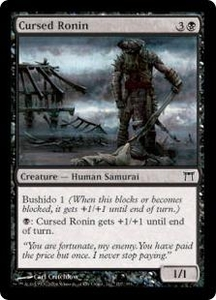 Magic the Gathering Champions of Kamigawa Single Card Common #107 Cursed Ronin