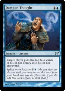 Magic the Gathering Champions of Kamigawa Single Card Uncommon #57 Dampen Thought
