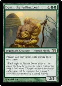 Magic the Gathering Champions of Kamigawa Single Card Rare #205 Dosan the Falling Leaf