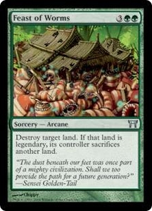 Magic the Gathering Champions of Kamigawa Single Card Uncommon #207 Feast of Worms