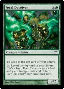 Magic the Gathering Champions of Kamigawa Single Card Common #208 Feral Deceiver