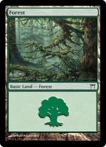 Magic the Gathering Champions of Kamigawa Single Card Land #303 Forest [Random Artwork]