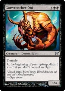 Magic the Gathering Champions of Kamigawa Single Card Uncommon #113 Gutwrencher Oni