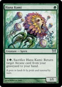 Magic the Gathering Champions of Kamigawa Single Card Uncommon #211 Hana Kami