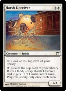 Magic the Gathering Champions of Kamigawa Single Card Common #11 Harsh Deceiver