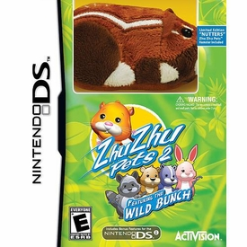Zhu Zhu Pets 2 Wild Bunch Nintendo DS Video Game with Exclusive Limited Edition Hamster Nutters
