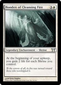 Magic the Gathering Champions of Kamigawa Single Card Uncommon #14 Honden of Cleansing Fire