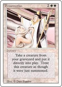 Magic the Gathering Revised Edition Single Card Uncommon Resurrection