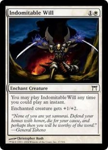 Magic the Gathering Champions of Kamigawa Single Card Common #17 Indomitable Will