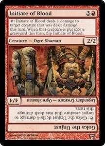 Magic the Gathering Champions of Kamigawa Single Card Uncommon #173 Initiate of Blood // Goka the Unjust