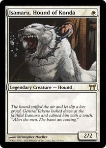 Magic the Gathering Champions of Kamigawa Single Card Rare #19 Isamaru, Hound of Konda