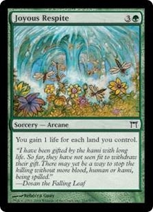 Magic the Gathering Champions of Kamigawa Single Card Common #216 Joyous Respite